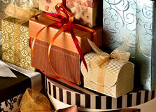 Collection of gifts Stock Photos