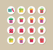 Collection Of gifts christmas Labels And Icons. Background christmas and happy new year Royalty Free Stock Photo
