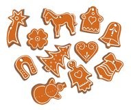 Collection of gingerbread Stock Photos
