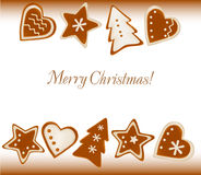 Collection of gingerbread cookies. Royalty Free Stock Image