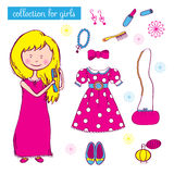 Collection for girls Royalty Free Stock Image
