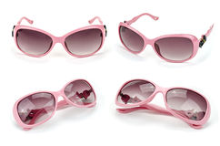 Collection of glamour sun glasses. Collection of glamour pink sun glasses Stock Image