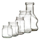 Collection of glass bottle Stock Photos