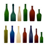 Collection of glass bottles Stock Image
