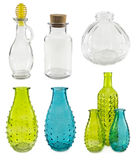 Collection of glass bottles Royalty Free Stock Image