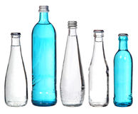 Collection of glass bottles Royalty Free Stock Images