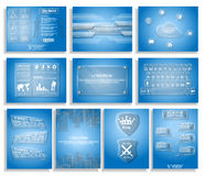 Collection glass cloud computing blackboard style Stock Image