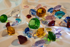 Collection of glass gems royalty free stock photo