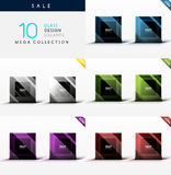 Collection of glass square web boxes Stock Photo