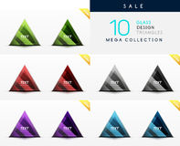 Collection of glass triangle web boxes Royalty Free Stock Photography