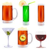 Collection of glasses  Royalty Free Stock Photo
