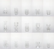 Collection of glassware Stock Images