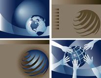Collection of globe background Stock Photos