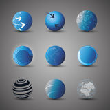 Collection Of Globe Designs Stock Photos