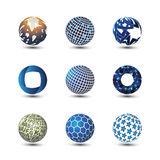 Collection Of Globe Designs Royalty Free Stock Photography