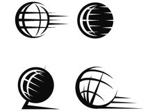Collection of globe icons - technology theme Royalty Free Stock Images
