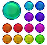 Collection of glossy buttons Royalty Free Stock Photography