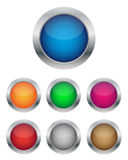 Collection of glossy buttons. In various colors Royalty Free Stock Photography