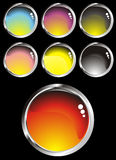 Collection glossy buttons various colors Royalty Free Stock Photo