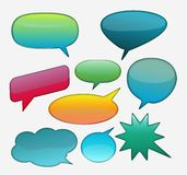Collection of glossy speech bubble. Illustration of Abstract glossy speech bubbles Stock Photography