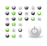 Collection of glossy web buttons Royalty Free Stock Photos