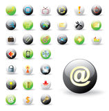 Collection of glossy web buttons. Vector format included Royalty Free Stock Photos