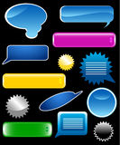 Collection of glossy web elements- Stock Image