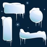 Collection of glossy winter banners Stock Image