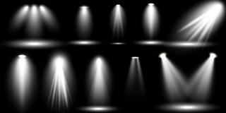 Collection Glow light lens flare effect. Scene illumination, sunlight effects. Collection Glow light lens flare effect and Star burst with sparkles. Scene royalty free illustration