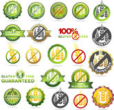 Collection of gluten free seals royalty free illustration