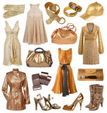 Collection of gold dress stock images