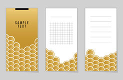 Collection of Gold Fish Or Snake Scales notebook Royalty Free Stock Photos