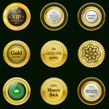 Collection gold labels for promo seals.  Royalty Free Stock Images