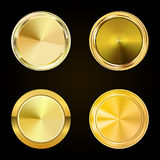 Collection gold labels for promo seals. Can be use for website, Royalty Free Stock Photo