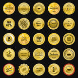 Collection gold labels for promo seals. Can be use for website, Royalty Free Stock Image