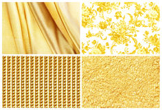 Collection golden background , silk,  golden rose, gold and gold Royalty Free Stock Photos
