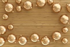 Collection of golden baubles royalty free stock photography