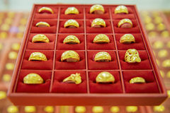 Collection of golden ring Royalty Free Stock Image