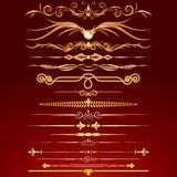 Collection of Golden Rule Lines. Vector Design Elements, Ornaments Royalty Free Stock Photos