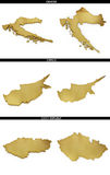 A collection of golden shapes from the European states Croatia, Cyprus, Czech Republic Royalty Free Stock Image