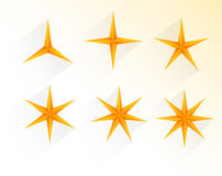 Collection of golden stars Stock Photo