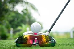 Collection of golf equipment royalty free stock photo