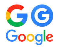Collection of Google logos Royalty Free Stock Photo
