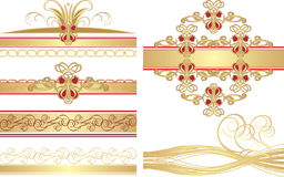 Collection of gothic ornaments Royalty Free Stock Photo
