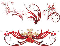 Collection of gothic ornaments. On the white background. Vector illustration Stock Photography