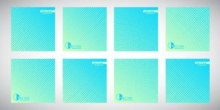 Collection of gradient backgrounds with geometric patterns Stock Photography