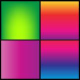 Collection of gradient vibrant color smooth silk background with with shade effect Stock Photography