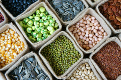 Collection of grain, cereal, seed, bean Stock Photo