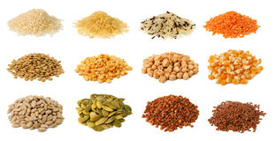 Collection of grains Stock Image