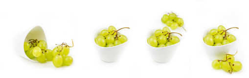 Collection of grapes in bowls Stock Photography